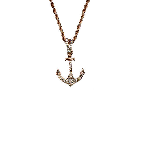ANCHOR GOLD / DIAMONDS PENDANT