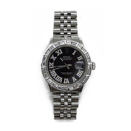 ROLEX OYSTER PERPETUAL DATEJUST 5.0ct DIAMOND 36mm