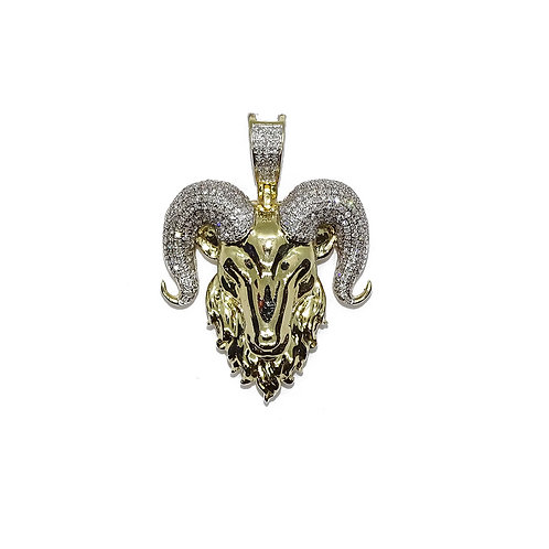 RAM'S HEAD 10kt GOLD / DIAMONDS PENDANT