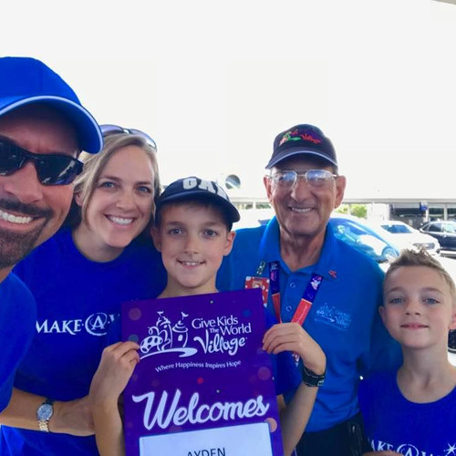 Riggs family at Give Kids The World Village