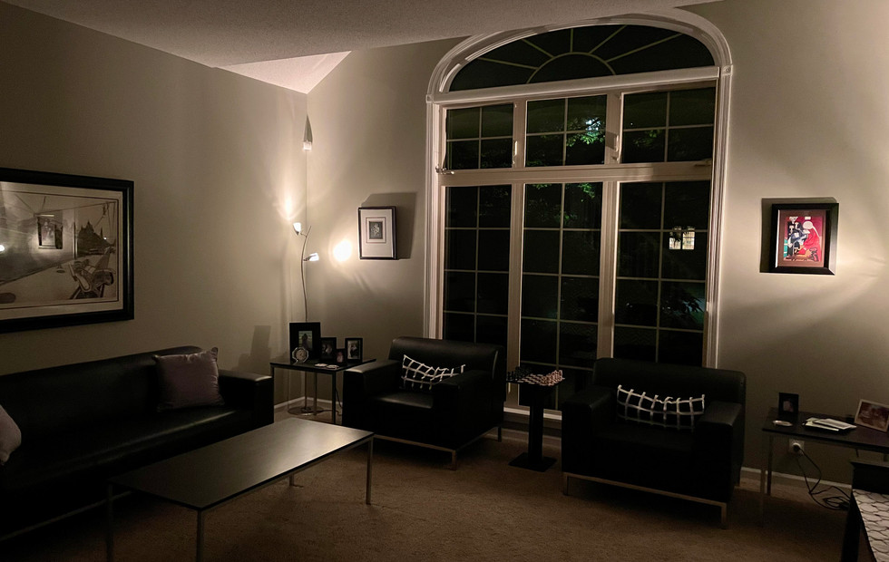 Front Living Room at night