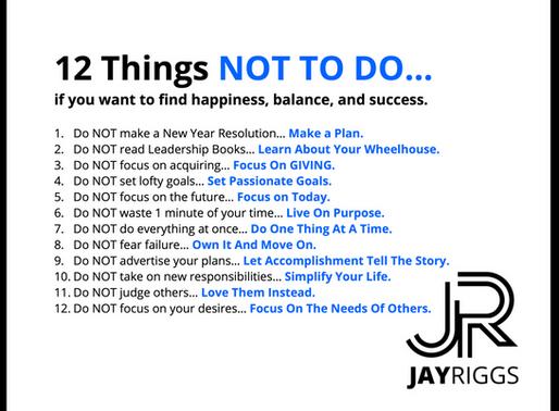 Do NOT make a New Year Resolution... Make a Plan.
