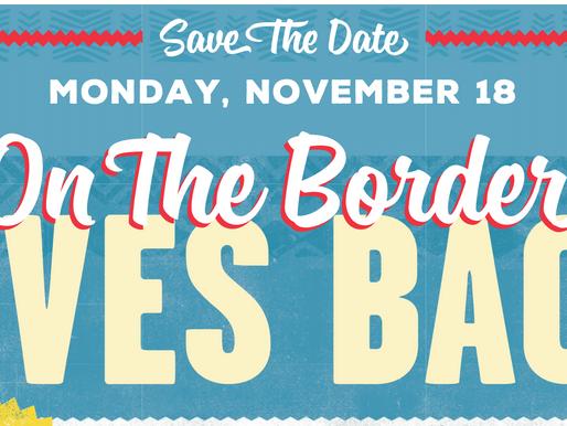On The Border & Critter Barn Fundraiser- November 18, 2019