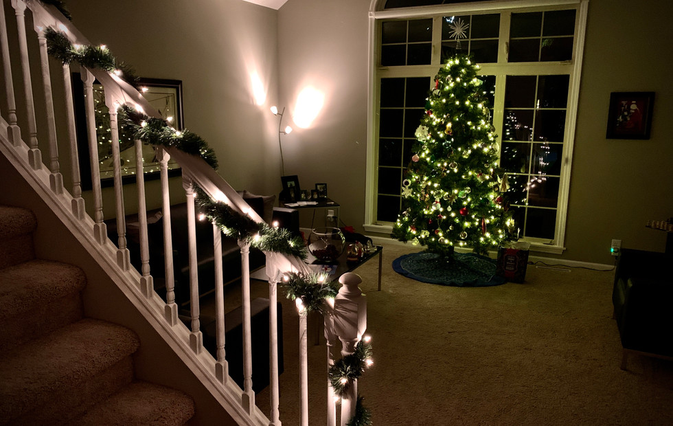 Front Living Room at Christmas