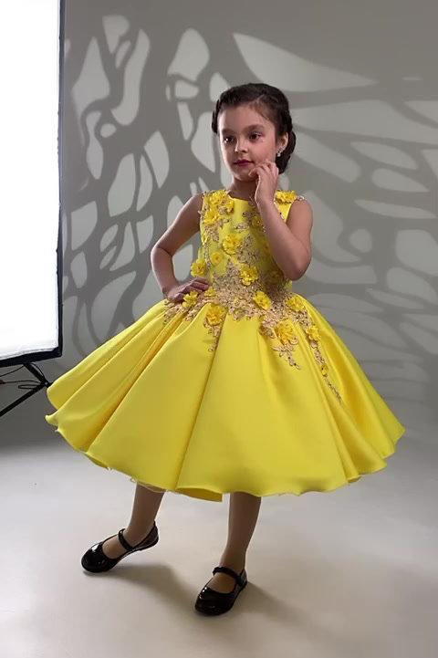 Diana Yellow Tutu Dress
