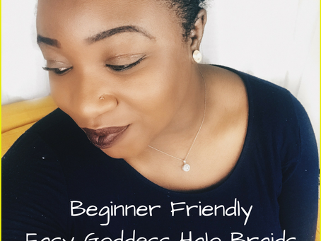 Easy Romantic Goddess halo braids for natural hair (Beginner Friendly)