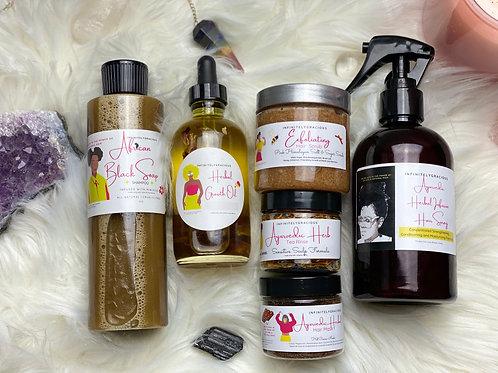 6 Product Ayurvedic Hair Growth Kit + Hair Growth Challenge