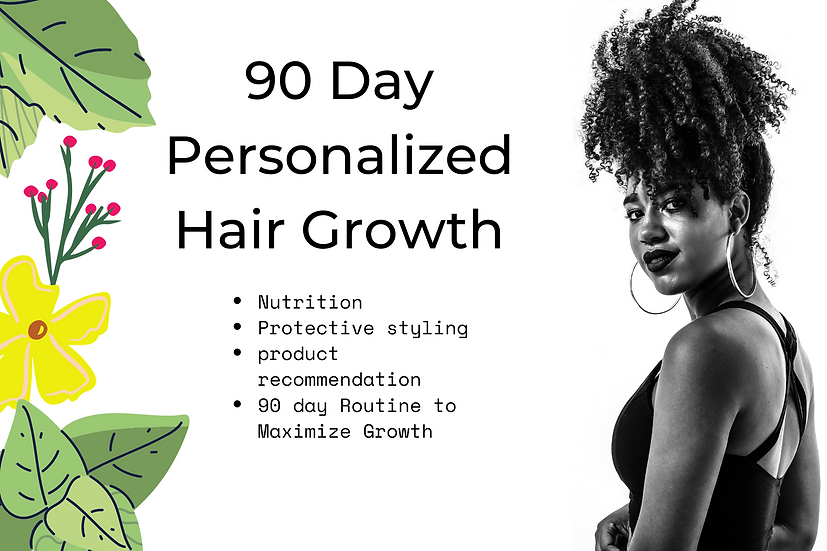 90 Days Personalized Hair Growth Routine
