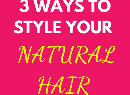 3 options for bad hair days (natural hair)