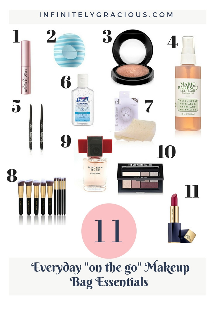 11 everyday makeup bag essentials