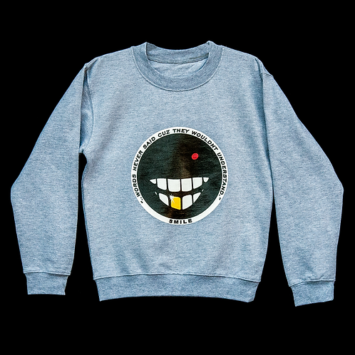 """Dear You, Smile"" Crewneck Sweatshirt (Athletic Heather)"