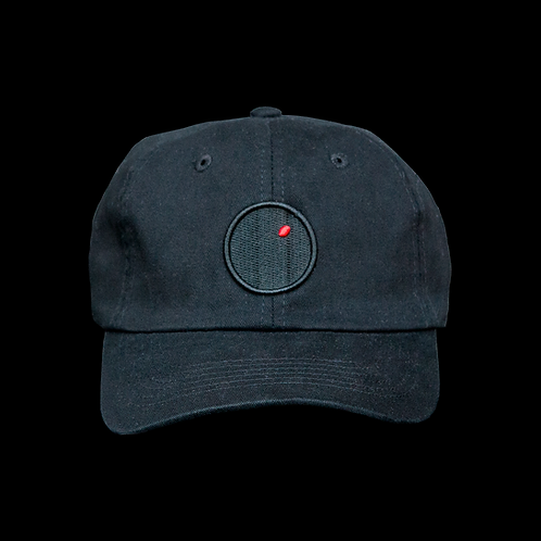 """Red Dot Plots"" Hat (Black)"