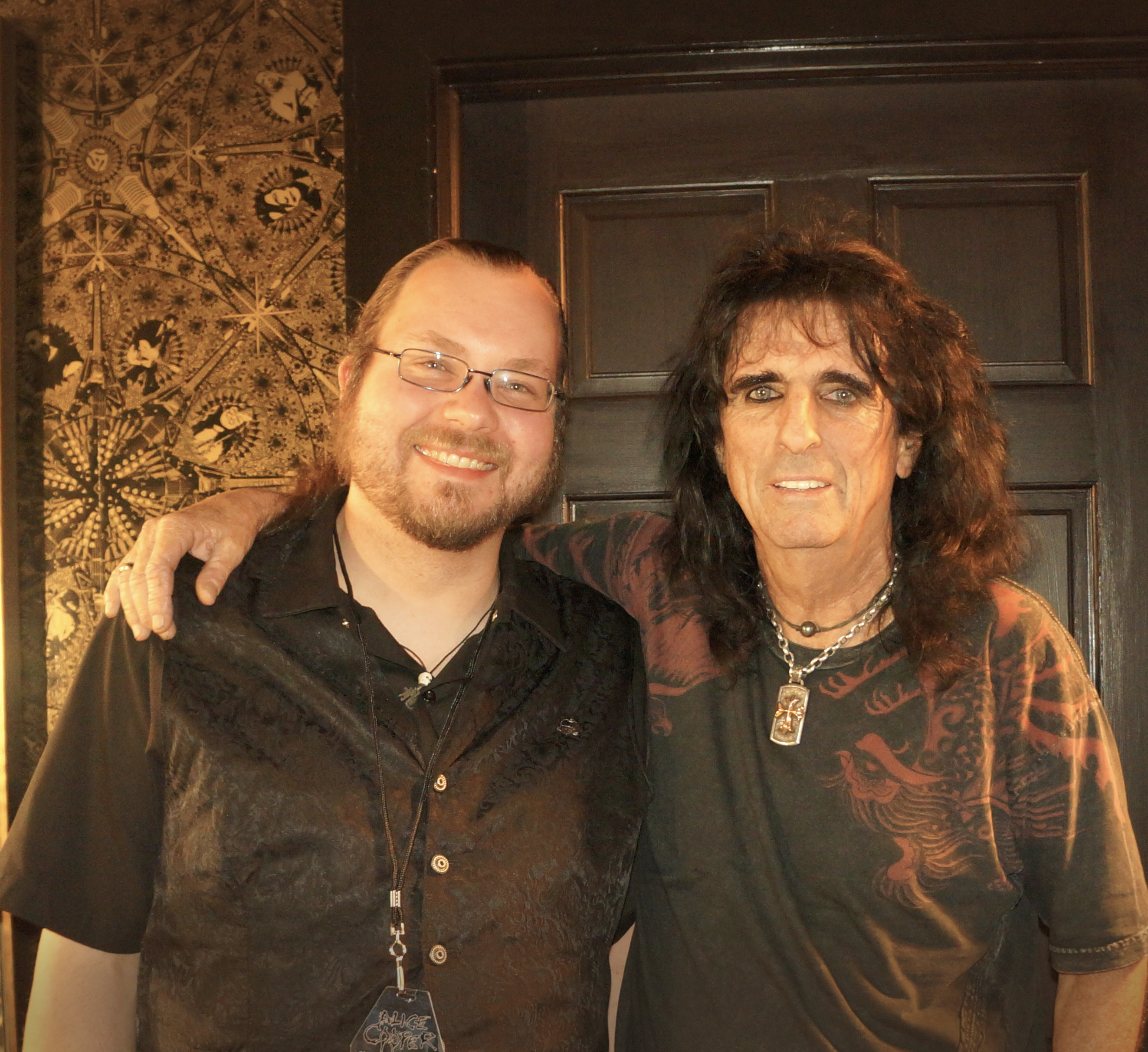 Anders Eriksen and Alice Cooper