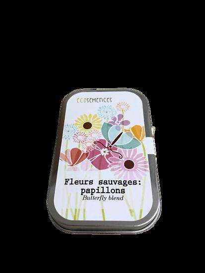 Fleurs sauvage - Papillon