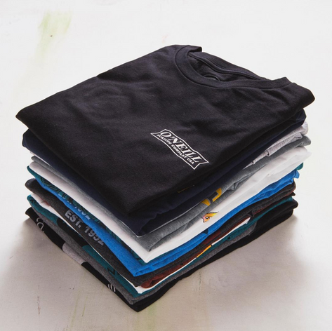Stacked men's tees
