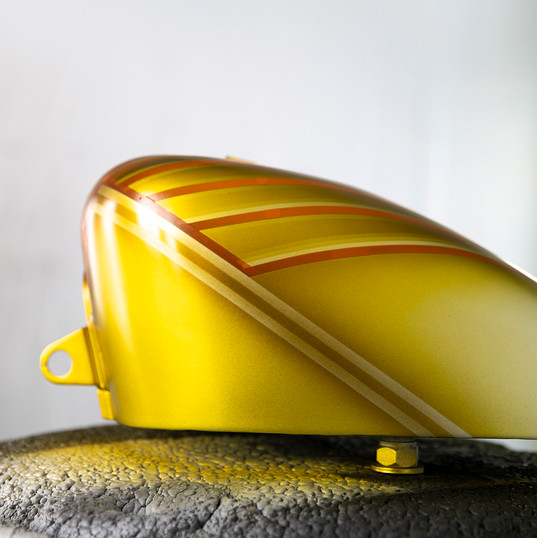close up of motorcyle gas tank