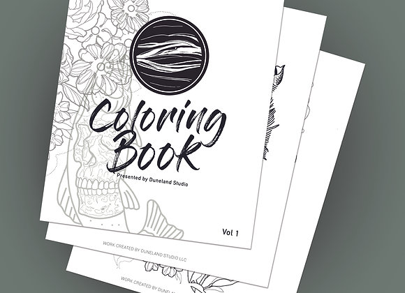 Duneland Coloring Book - digital download