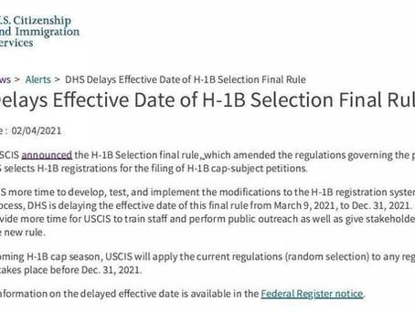2021 H-1B抽签时间已定,不按照工资等级抽签!