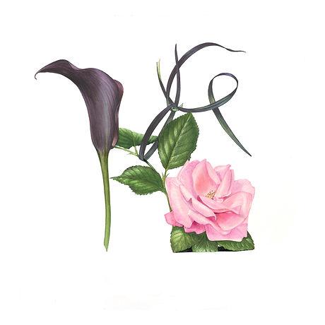 Black Calla and Pink Rose shoe.jpg