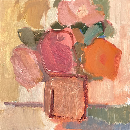 Still Life in Apricot and Pink