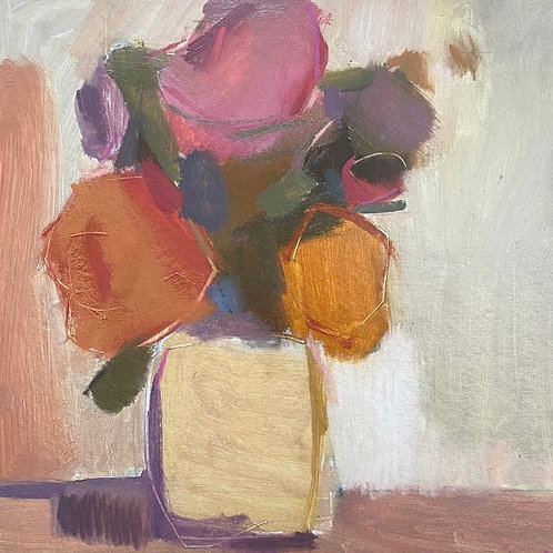 Still Life in Apricot and Pink III