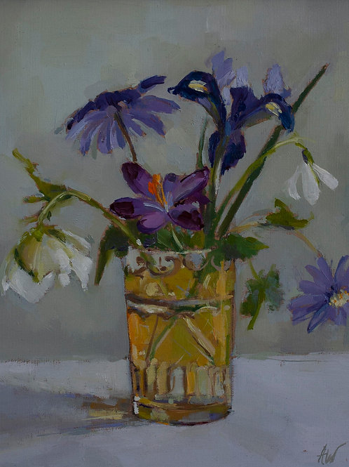 Spring Flowers in Moroccan Glass