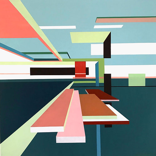 Contemporary affordable graphic architectural art by Evy Meehan