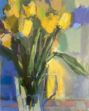 Rosie Copeland - Yellow Tulips in Glass