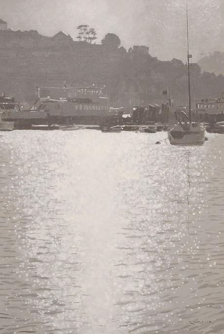 Spring Light Dartmouth Harbour 77x59cm.J