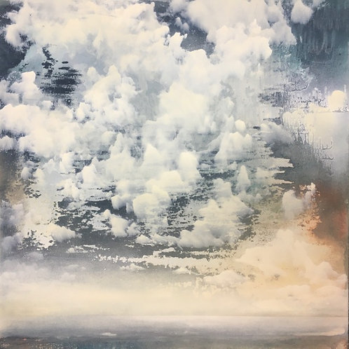 Beautiful cloud and skyscape contemporary painting by Sophie Carter. Beautiful art for your home.