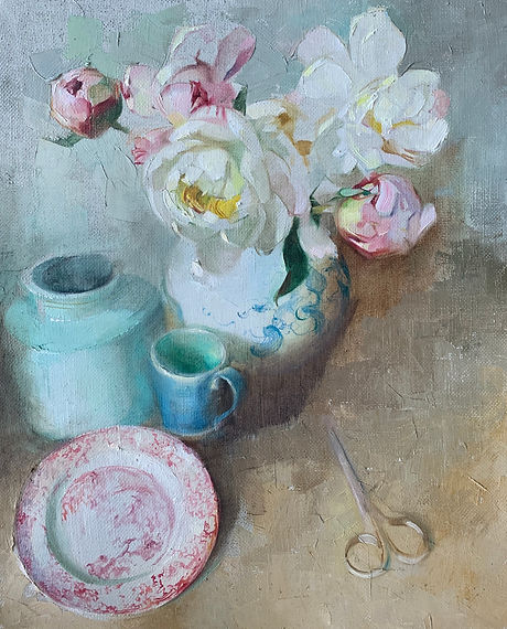 Harriet Salt Peonies and Painted china.j