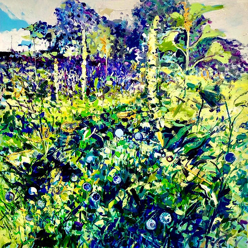 Affordable Art Floral Painting an East Sussex country garden by Ian Mowforth