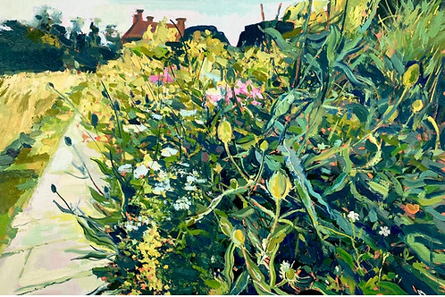 Affordable art painting of Great Dixter gardens, East Sussex by Ian Mowforth