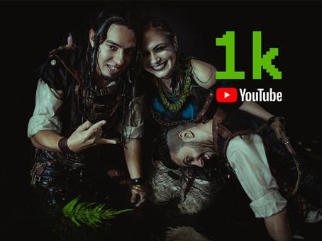 Anfear com 1000 inscritos no YouTube!