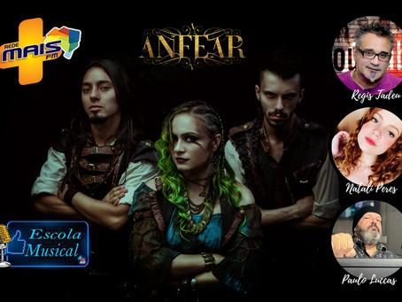Anfear participa ao vivo na Rede Mais Fm