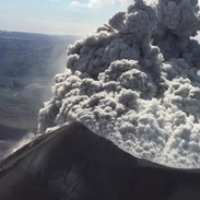 Magnificent ash plumes at Russia's Karymsky Volcano