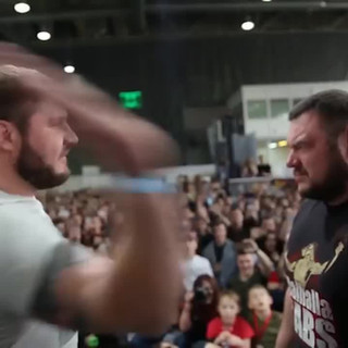 Russians slap each other at painful competition in Moscow