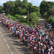 Honduran migrant caravan enters Mexico