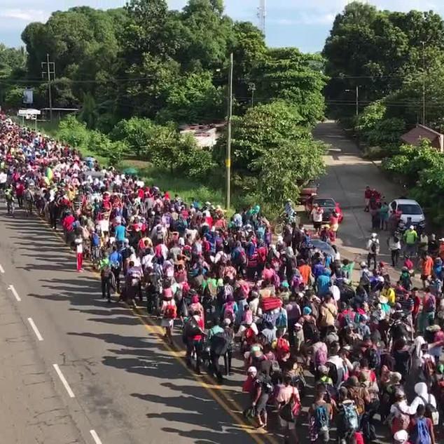 Honduran migrant caravan enters Mexico