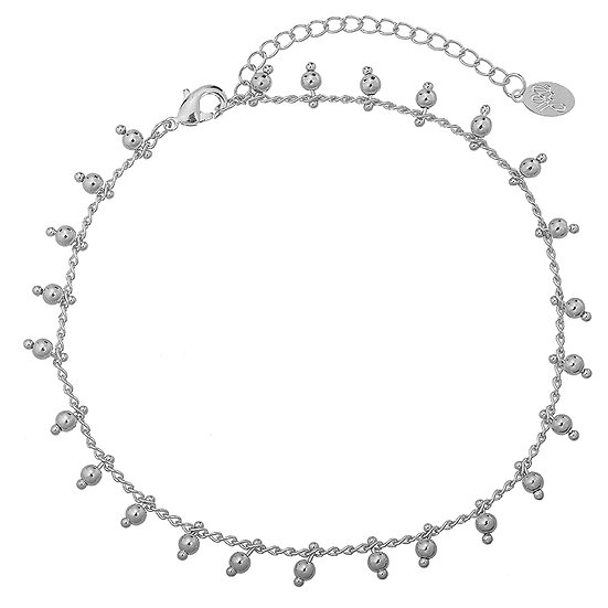 Fußkette Tiny Beads Party Silver
