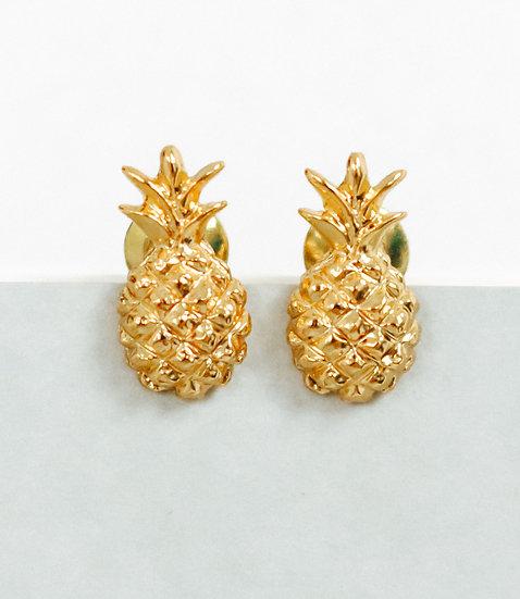 Ohrringe Pineapple Gold