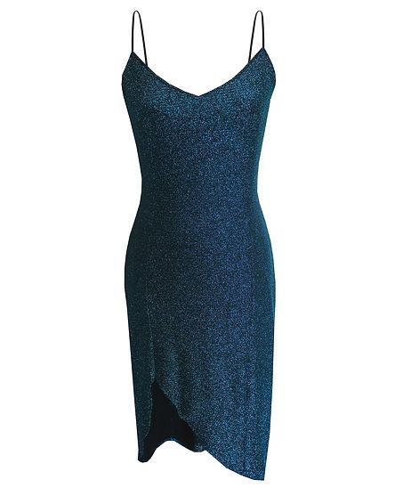 Cocktailkleid in blau, vorne
