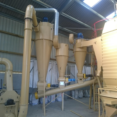 hammer mill and cyclones