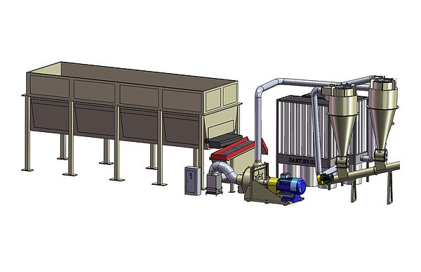 Wood chip milling system