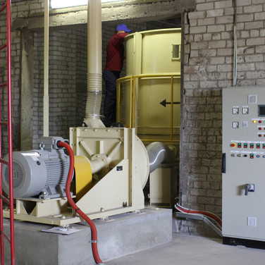 hammer mill and control panel