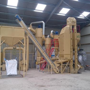 pelleting system with bulk bagging