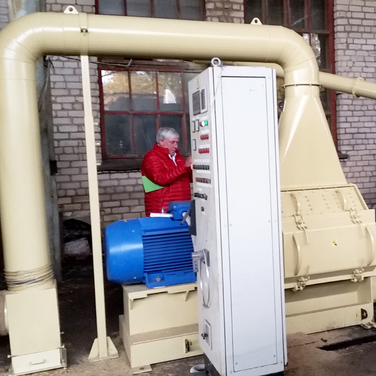 90kw hammer mill and control panel