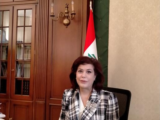 """Ambasciatrice dell'Iraq in Italia: """"Cooperazione e crescita comune fra le nostre civiltà"""""""