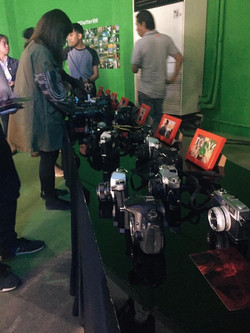 A collection of cameras at Born in Film's first exhibit