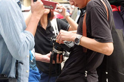 Participants during a Born in Film Photowalk event